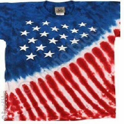 Patriotic Stars And Stripes Usa Flag American Tie Dye T Tee Shirt 3Xl - 6Xl