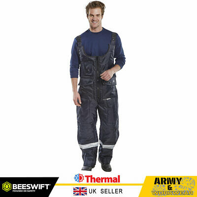 Click Coldstar Freezer Bib & Brace Trouser Padded Thermal Lined Coverall Overall