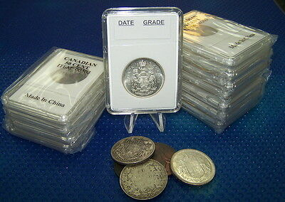 10 Coin Holders Slab * for CAD/Nfdl Silver 50 cents --- 29.7 mm*