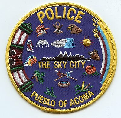 PUEBLO OF ACOMA NEW MEXICO NM The Sky City TRIBAL POLICE PATCH