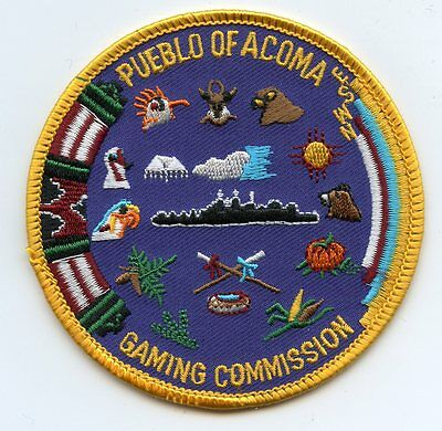 PUEBLO OF ACOMA NEW MEXICO NM GAMING COMMISSION Casino Tribal police PATCH