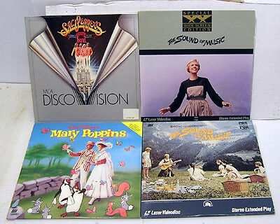 Lot of 4- MUSICAL THEME Movie Laser Disc-SGT PEPPER'S LHB/POPPINS/MORE(M1080-FD)