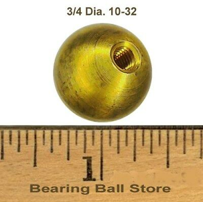 "one 3/4"" threaded 10-32 brass ball drilled tapped"