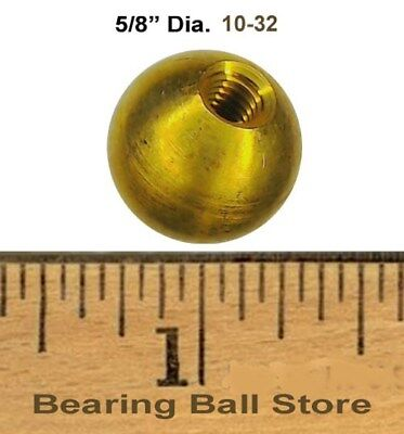 "122 5/8""  dia.  threaded 10-32 brass balls drilled tapped"