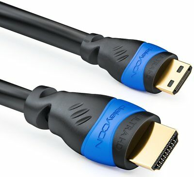 2m mini HDMI Kabel | 2.0 / 1.4a kompatibel | High Speed mit Ethernet - deleyCON