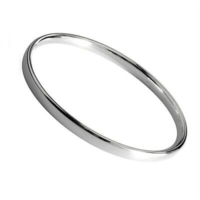 925 Sterling Silver Hallmarked SOLID Heavy Slave BANGLE Bracelet Circumfer. 22cm