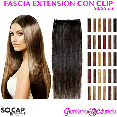 EXTENSION CLIP CAPELLI VERI NATURALI 50/55 cm SOCAP ORIGINAL