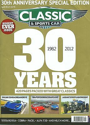 C&SC magazine 4/12 feat. 30th year issue, Phantom II, Zonda, Facel II, Bertone