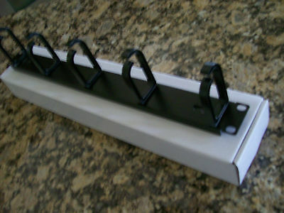 """1U Rackmount Cable Management Panel with 5 Loops 1RU x 19"""""""