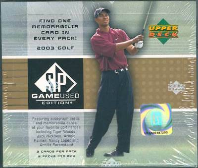 2003 Upper Deck Sp Game Used Golf Hobby 12 Box Case Blowout Cards