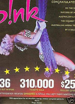 PINK Hanging Out On A Rope 2007 PROMO PHOTO POSTER AD