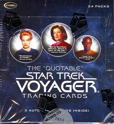 Star Trek Voyager The Quotable Trading Cards Box Blowout Cards
