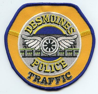 DES MOINES IOWA IA Motorcycle Traffic Enforcement Unit POLICE PATCH