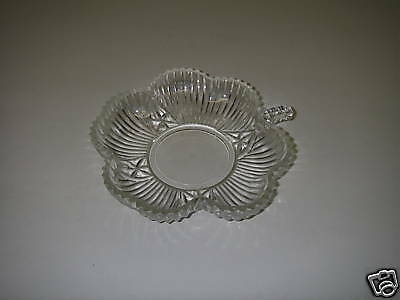 Federal Glass Line 2825 CLOVER Clear Bon Bon Dish Giftware Depression