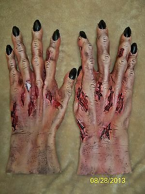 Rotting Flesh Death Zombie Hands Gloves Costume Th155