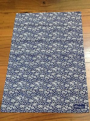 Large, Blue Calico Tea Towel  / Teatowel, Burleigh, Cotton New.