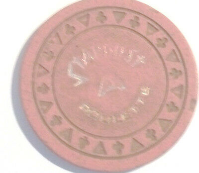Stardust Casino Triclb Pink A Roulette Chip  Las Vegas Nevada 1978