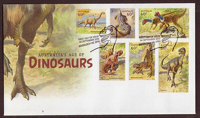 Australia 2013 Dinosaurs First Day Cover Set Of 6