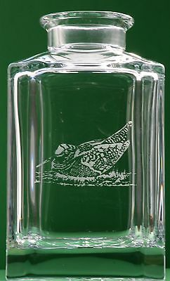 Woodcock Game Bird Crystal Decanter Glass shooting Gift Boxed CLEARANCE