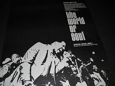 WORLD OF SOUL 1969 Promo Display Ad in mint condition