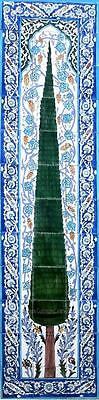 "DECORATIVE CERAMIC TILES:MOSAIC WALL MURAL HAND PAINTED POOL PATIO ART 72"" x 18"""
