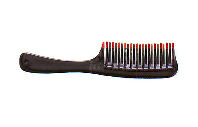 Dimples Large double dipping de-tangler Wide Tooth Hair Comb Black Colour (H652)