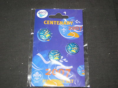 England 2007 Boy Scout Centenary Pin Badge Set 100th Anniv of Scouting       c12