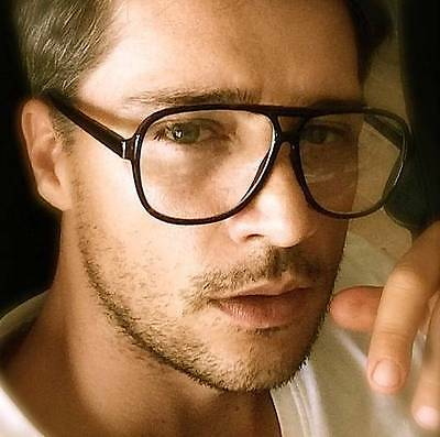 80s vintage retro classic aviator frame clear lens men women eyeglasses glasses