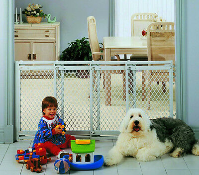 NEW North States Supergate Extra Wide Baby Safety Pet Child Gate Top of Stairs