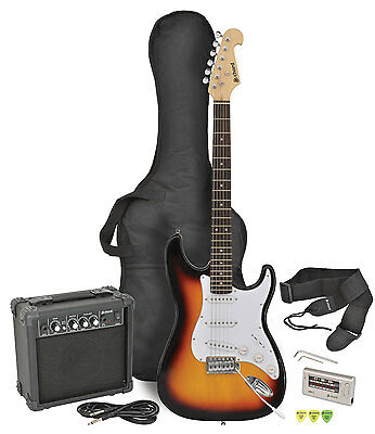 Chord Cal63Pk Beginners First Electric Guitar + Amp Pack With Gig Bag -4 Colours