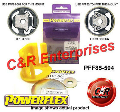 VW Golf Mk5 GTI & R32 04-09 Powerflex Lower Engine Mount (Petrol) PFF85-504
