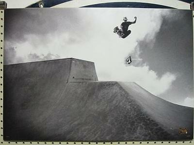 VOLCOM surf skateboard 2008 AARON SUSKI B&W POSTER ~MINT CONDITION~!