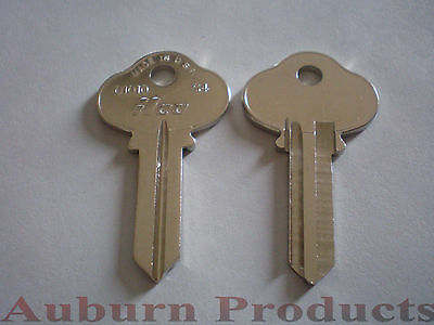 S4 Sargent Key Blank / 10 Key Blanks / Nickel Plate Finish / Free Shipping