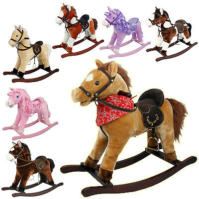 Kids Toy Play Rocking Horse Pony Moving Mouth Sounds Children Boys Girls Rocker