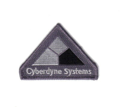 Terminator Movies Cyberdyne Systems Logo Embroidered Shoulder Patch, NEW UNUSED