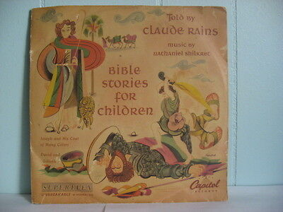 40s 78  BIBLE STORIES FOR CHILDREN Claude Rains  DBS-94 2 78s w/Sleeve EB736