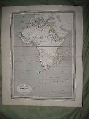 Antique 1852 Africa Map Hottentot British Colonial Cape Colony Atlantic Ocean Nr
