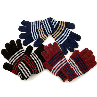 Kids Magic Gloves Knitted Thermal Winter Insulated Outdoor Girls Ladies Warmers