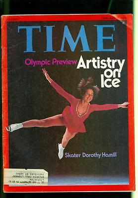 1976 Time Magazine: Dorothy Hamill- Skater/ Olympic Preview- Artistry On Ice