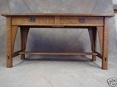 Library Table  #615  Mission Oak Arts Crafts Desk Look