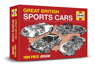 GREAT BRITISH SPORTS CARS - HAYNES 1000 PIECE JIGSAW ( New & sealed )