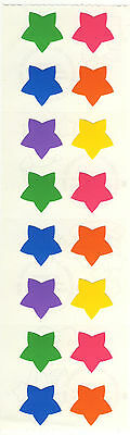 Mrs. Grossman's Stickers - Stars, Medium Multi Color - Bright Colors - 4 Strips