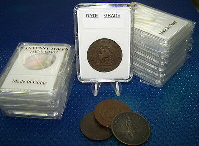 10 Coin holders Slab ** for Canadian Large Token--- size 34 mm**
