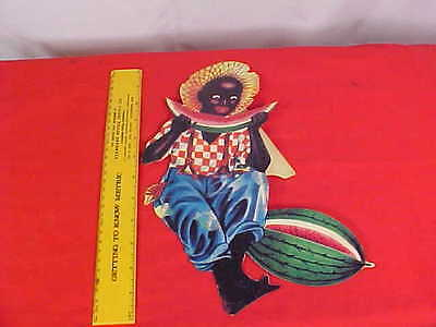 Cut-Out STAND-UP of BLACK BOY Eating WATERMELON