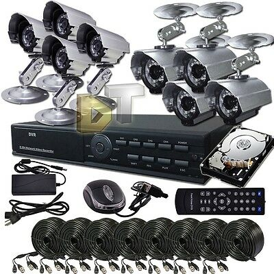 DNT 8CH CHANNEL H.264 D1 CCTV DVR Security Camera System 8 Outdoor Camera 500GB