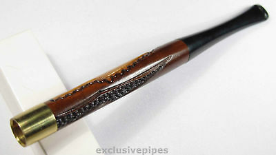 "5""/130mm UNISEX Stylish wood REGULAR cigarette holder Engraving MODERN HANDMADE"
