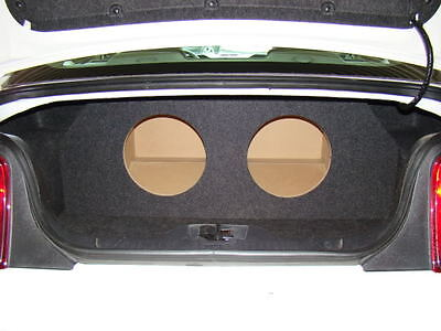 "Type 3 Holes /& Amp Area Rec 2005-2014 Ford MUSTANG 2-12/"" Subwoofer Sub Box"