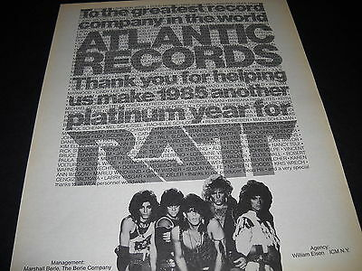 RATT ....Another Platinum Year 1985 PROMO DISPLAY AD mint condition