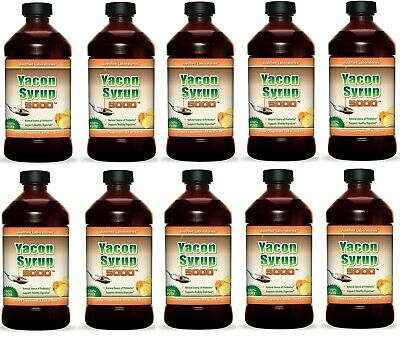 Pure Yacon Syrup 5000 8oz Natural Weight Fat Loss Sweetener 10 Bottles