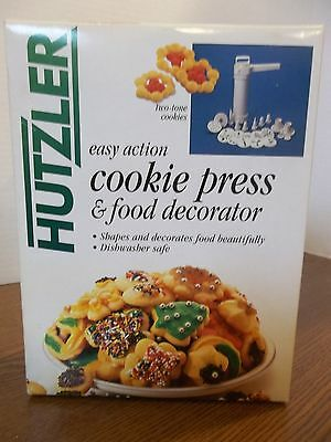 hutzler easy action cookie press and food decorator spritz christmas shapes